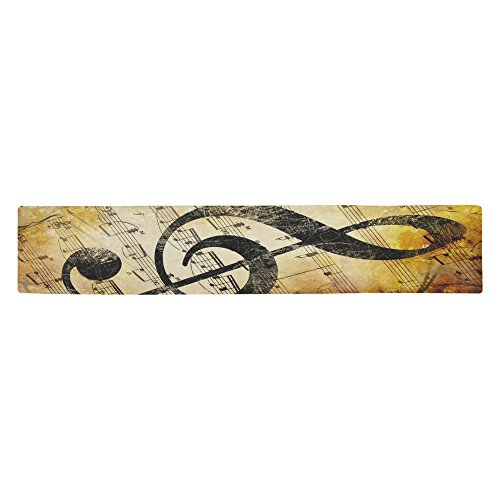 - InterestPrint Vintage Music Note Cotton Table Runner Placemat 14 x 72 inch, Autumn Melody Notation Table Linen Cloth for Office Kitchen Dining Wedding Party Home Decor
