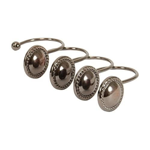 85%OFF Kiera Grace Button Design Shower Curtain Hooks - Set of 12
