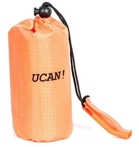 UCAN!! Emergency sleeping bag bivy. Survival bivy bag is made from mylar includes nylon stuff bag and whistle by UCAN!