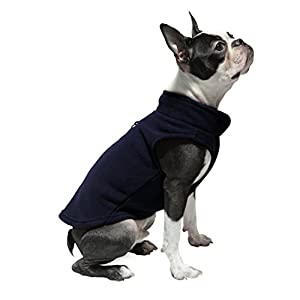 Gooby Every Day Fleece Cold Weather Dog Vest for Small Dogs, Navy, Medium