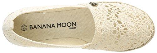Banana Moon Olexa - Bailarinas de piel y sintético mujer beige - Beige (écru)