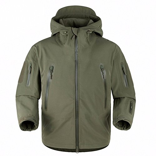 Upgraded shark skin tactical jacket waterproof windbreaker men's raincoat military clothing windcheater army jacket OD L