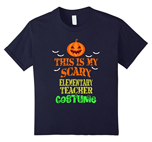 Kids This is My Scary Elementary Teacher Costume Halloween TShirt 12 Navy - Elementary Teacher Halloween Costumes