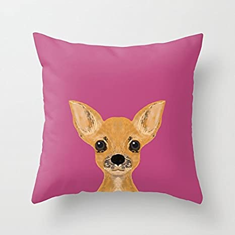 Lulu - Chihuahua, Funda de Almohada con Forma de cojín ...