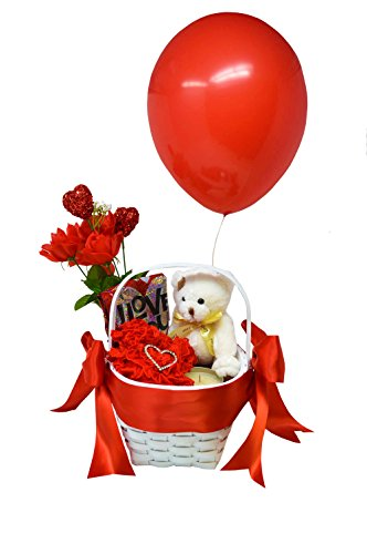 Exotic Wedding Bouquets (Romance Basket - Love Basket - Valentine's Day Gift Basket - Wedding Anniversary Gifts - Romantic Gifts (Red))
