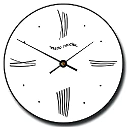 Modern Roman Wall Clock, Available in 8 sizes, Most Sizes Ship 2 - 3 days, Whisper Quiet.