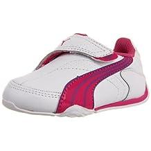 Puma Jiyu 2 Toddler Girls US Size 8 White Leather Running Shoes UK 7 EU 24