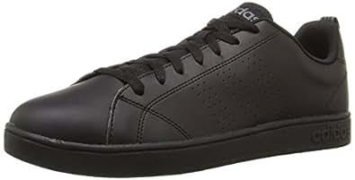 adidas NEO Men's Advantage Clean VS Lifestyle Tennis Shoe,Black/Black/Lead,7.5 M US