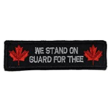 Canada National Anthem, Stand on Guard For Thee 1x3.75 inch Military Patch / Morale Velcro Patch - Black