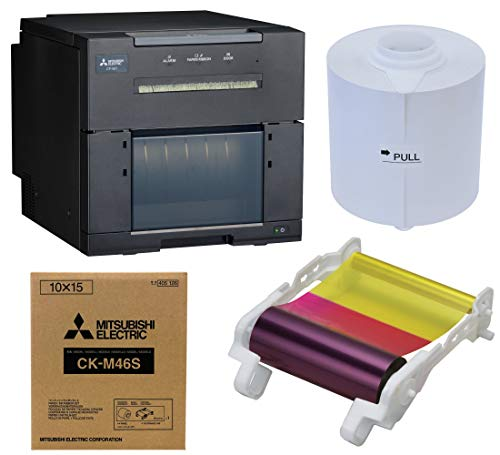 Mitsubishi CP-M1A Professional Dye Sub Photo Printer Media Bundle 4 x 6-inch Ink and Paper, Includes 3 Year Warranty, (750 Prints)
