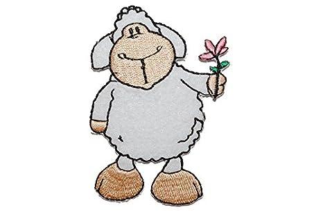 7,1 cm Bügelbild Aufnäher Applikation das Schaf weiß Nici Schaf Jolly Mäh 5 cm