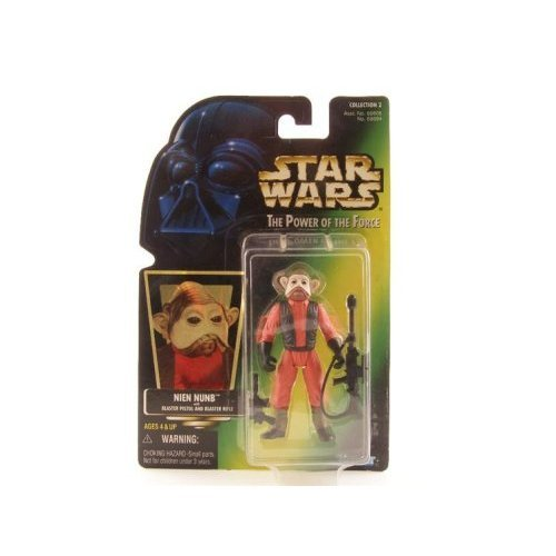 Star Wars The Power of the Force Nien Nunb Action Figure, 3.75 Inches (Star Wars Jedi Force)