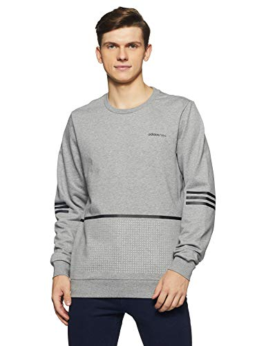 Adidas Men's Solid Regular Fit Active Base Layer Shirt