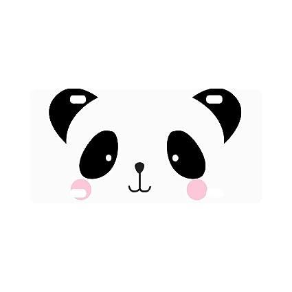 Amazoncom Interestprint Cute Baby Panda Bear Face Doodle Comic