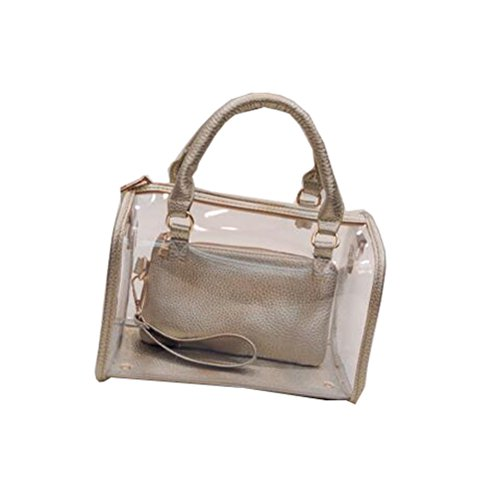 Jelly Bags Wholesale Purses (Forlisea Women's New Summer Beach Jelly Bag Crystal Bag Handbag Shoulder Bag with 2)
