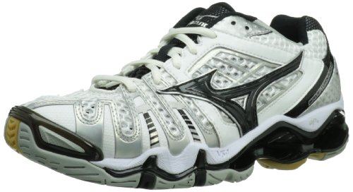 Mizuno Women's Wave Tornado 8 Volleyball Shoe,White/Black,7 M US ()