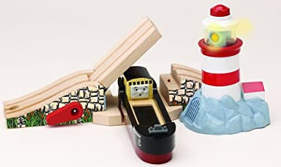 Thomas And Friends Wooden Railway - Lighthouse Bridge With Bulstrode by Learning Curve