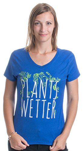Plants Wetter | Funny Gardener, Gardening Plants Humor Ladies' V-neck T-shirt