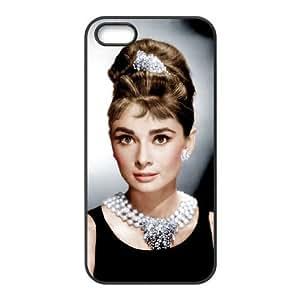 iPhone 5,5S Phone Case Black Audrey Hepburn F6534660