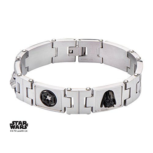 Star Wars Galactic Empire Stainless Steel Bracelet w/Gift Box by Superheroes Brand by Superheroes Brand
