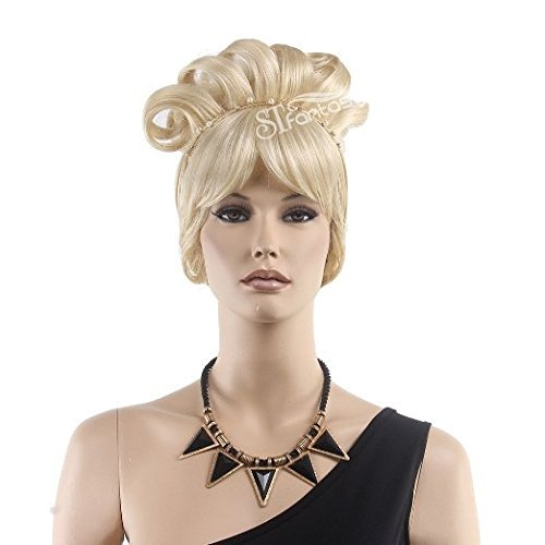STfantasy Cinderella Wig for Women Princess Cosplay Costume Halloween Party Short Curly Blonde (Country Girl Wig In Blonde)