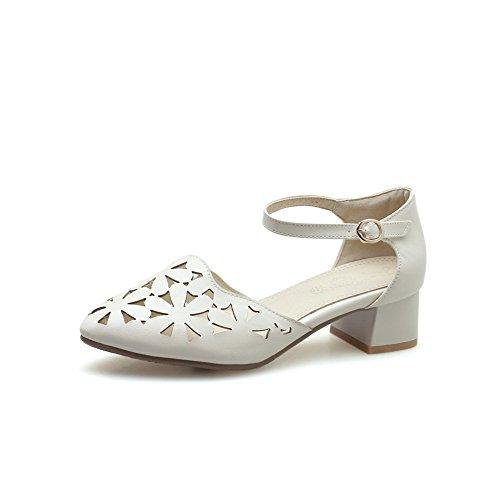 Femme 5 AdeeSu 36 EU Sandales Compensées Beige Abricot EEwfq7Y