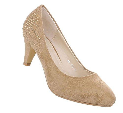 Damen Schuhe Pumps Klassische Hellbraun