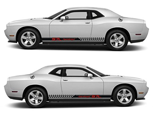 mpv suv challenger racing stripes sticker decal kit srt sxt hemi pentastar sohc muscle car 5.7L supercharged monsters sports