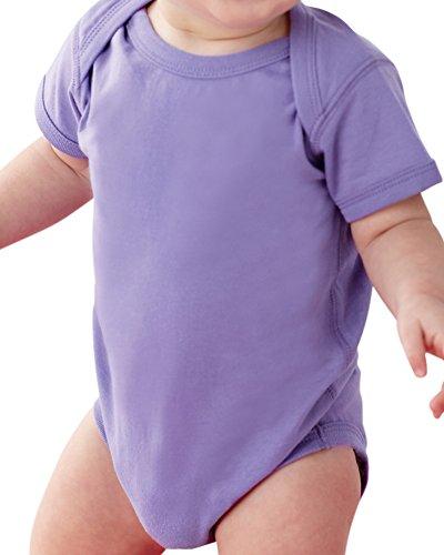 Rabbit Skins Infants'Fine Jersey Lap Shoulder Bodysuit, NB, LAVENDER