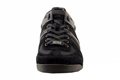 Hugo Boss Mens Akeen Sneakers In Camoscio Nero Scarpe 50247604