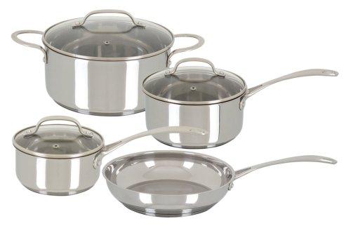 Oster Davenport 7 Piece Cookware Set, Stainless Steel