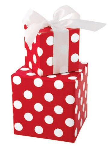 Bright Red & White Polka Dot Gift Wrap Wrapping Paper 16 Foot (Cheap Wrapping Paper)