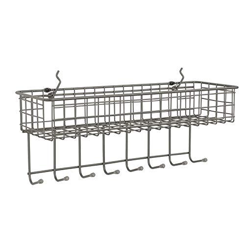 Spectrum Diversified Garage Craft Tool Pegboard Mount Basket Shelf & Hook Rack Station Wall Organizer One Industrial -