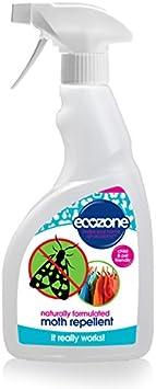 Repelente de polillas de Ecozone, de 500 ml, fórmula natural, protección de larga duración, apto para todos los tejidos