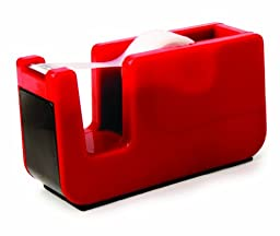 Kikkerland Retro Desktop Tape Dispenser, Red