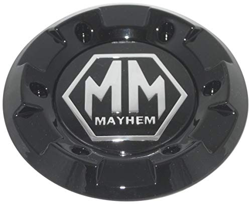 (Mayhem Gloss Shiny Black Wheel Rim Replacement Center Section Cap Only C-231-2)