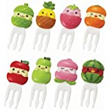 Cute fruit friends food picks forks for Bento Box Lunch Box