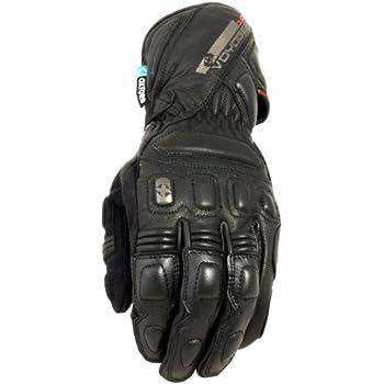Oxford Voyager Waterproof Leather Motorcycle Gloves Black