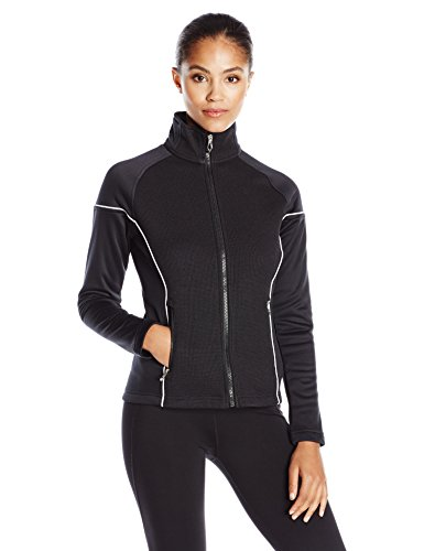 Spyder Women's Premier Light Weight Stryke Fleece Sweater, Medium, Black/White (Spyder Black Fleece)