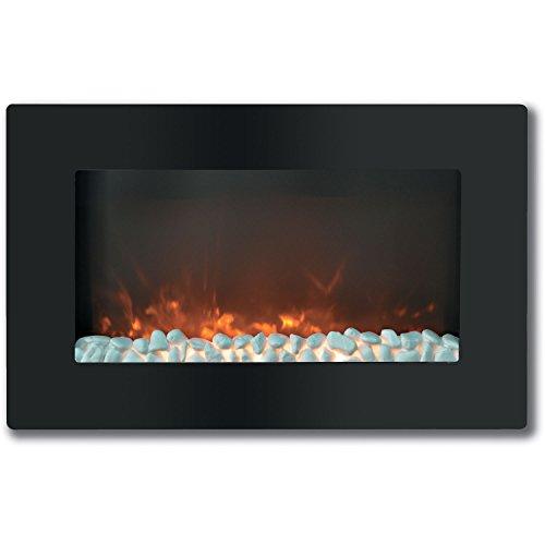 "Cambridge Callisto 30"" Wall-Mount Electric Fireplace Black CAM30WMEF-1BLK"