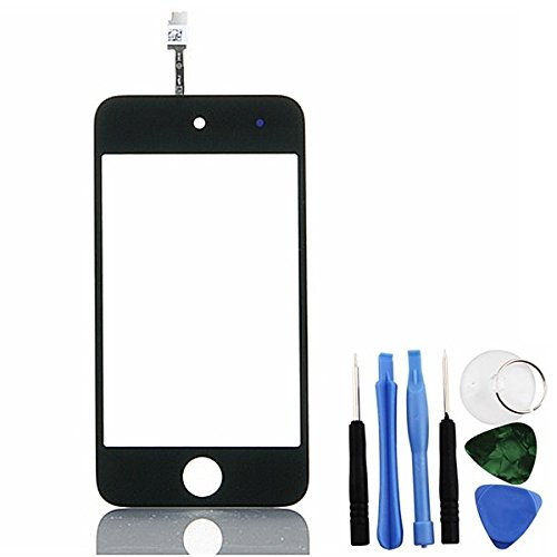 BisLinks Touch Screen Digitizer Display Glass Black for iPod Touch 4 4th Gen + Free Tools - Ipod 4th Generation Screen