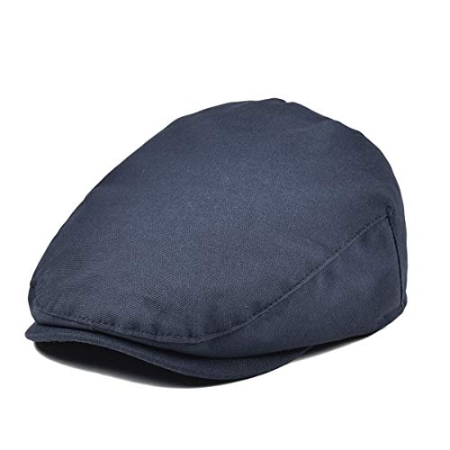 JANGOUL Baby Boy's Cotton Hat Driver Page Boy Cap Fully Lined Newsboy Cap Navy