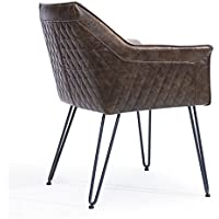 Modus Furniture 9KD166A Crossroads Alabaster Chair, Rustic Brown
