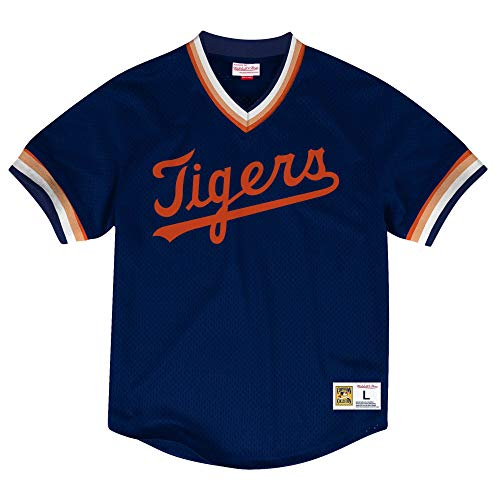 - Mitchell & Ness Detroit Tigers Men's Mesh V-Neck Jersey (XX-Large)