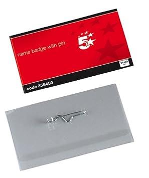 5 Star 356459 - Funda para tarjetas de identificación (50 unidades), transparente