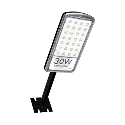 30/50/80W Street Light Energy Saving Road Street Flood Light Cool White 220V with Rod/Thick Film for Construction Site, Hotel, Lobby, Home, Industrial Use (30W8PCS)
