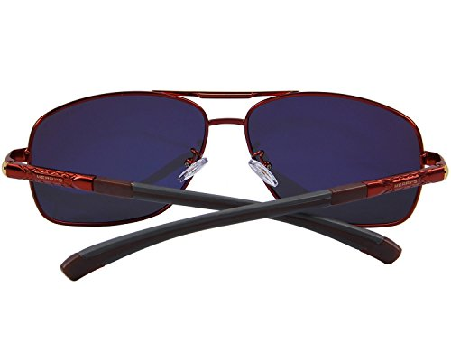 MERRYS HOT Fashion Driving Polarized Sunglasses for Men Square 45mm glasses S8714 Red