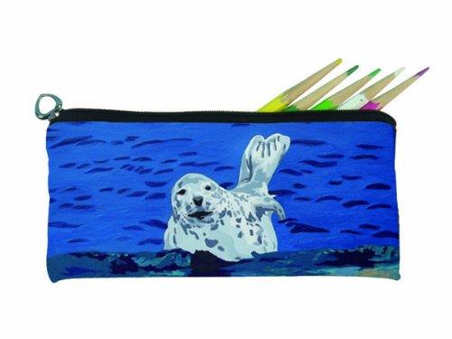 Salvador Kitti Small Pencil Bag (Seal - Playful Pup) - Playful Seal