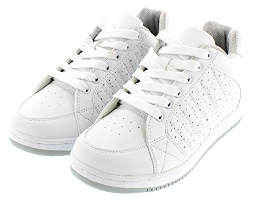CALDEN - K9928 - 2.4 Inches Taller - Height Increasing Shoes (White Sneakers) - Women n8SsPjkN59