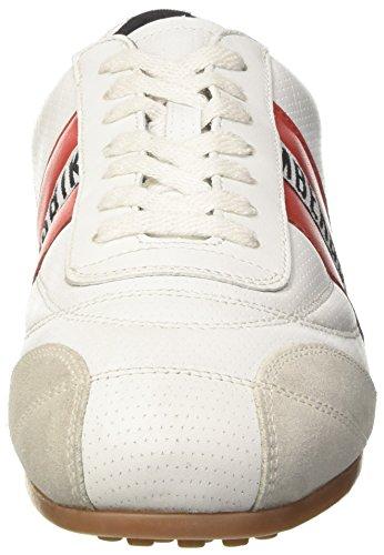 Bikkembergs 106 White Basses Bianco Mixte Adulte Red Soccer BBqFxTnO